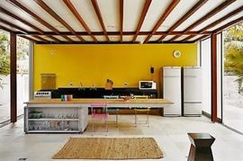 キッチン,扉,全開放,開放感,ロフト,倉庫